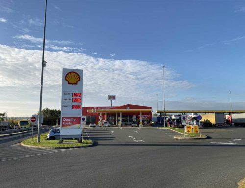 Shell bencinski servis Rače: vzdrževalna dela na infrastrukturi, na zelo obremenjenem kamionskem bencinskem servisu