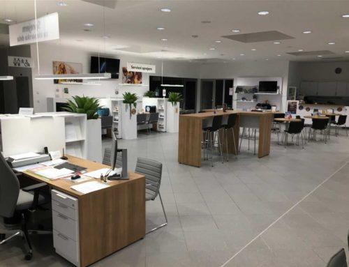 Porsche Maribor Šentiljska: adaptacija centralnega dela za sprejem strank